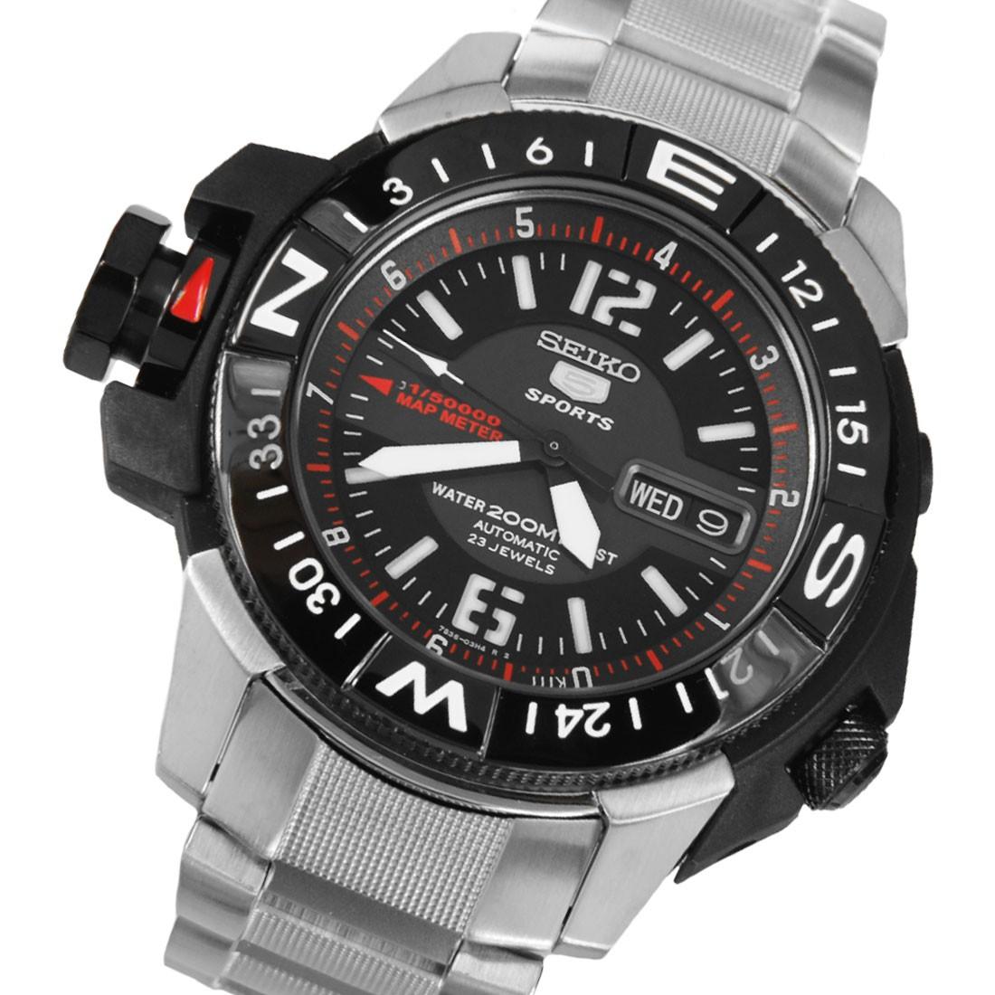 cf4711727 Seiko 5 Sports Automatic 23 Jewels Map Meter Compass SKZ229 SKZ229K ...