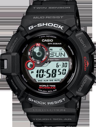 Casio g-shock mudman tough solar watch g-9300gy-1 g9300gy.