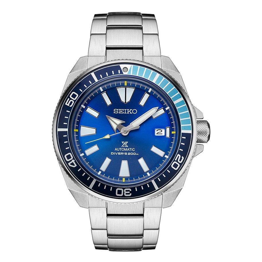 Seiko Samurai Blue Lagoon Diver Watch Turquoise Limited Edition