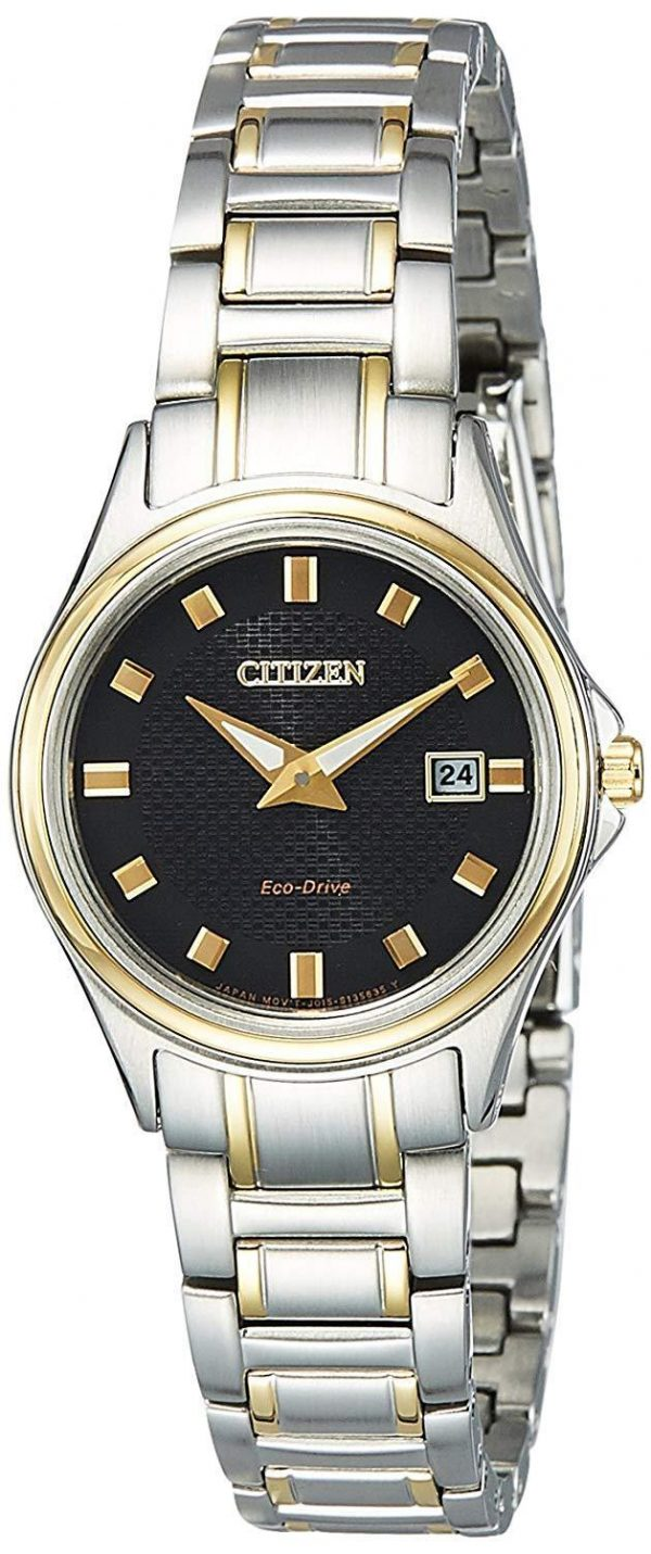 Citizen Watch ECO-DRIVE Silver Stainless-Steel Case Two Tone Stainless  Steel Bracelet Ladies GA1039-53E